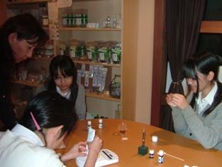 中学生の練香作り